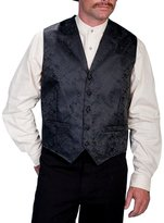 Scully Old West Vest Men Dragon Pattern Lined Dry Clean XL RW145
