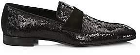 Paul Stuart Men's Heron Sequin Formal Loafers