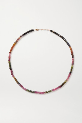 JIA JIA Arizona Gold, Tourmaline And Amethyst Necklace - Red