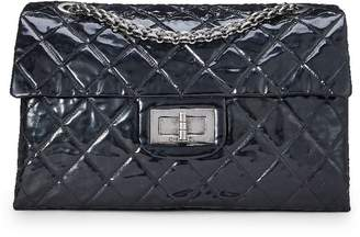 Chanel Black Quilted Patent Leather Reissue Flap Bag XL