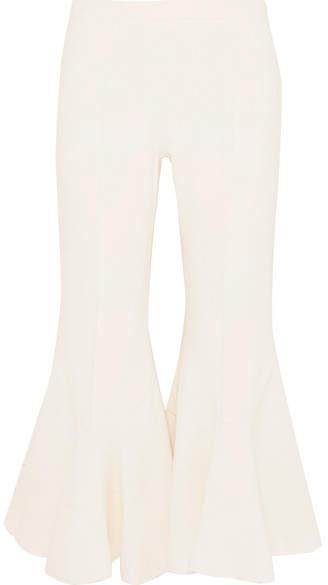 Antonio Berardi Cropped Cady Flared Pants - Off-white