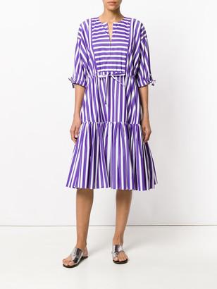 Maison Rabih Kayrouz striped flared dress purple