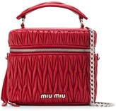 Miu Miu matelasse logo plaque box bag