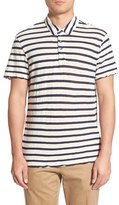 James Perse Stripe Cotton & Cashmere Polo