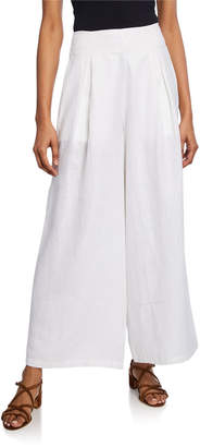 Faithfull The Brand Meridian Wide-Leg Linen Pants