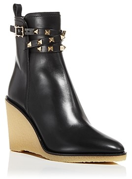 Valentino Women's Pointed Toe Wedge Booties
