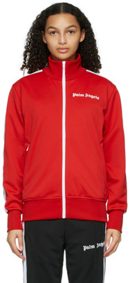 Palm Angels Red and White Classic Track Jacket