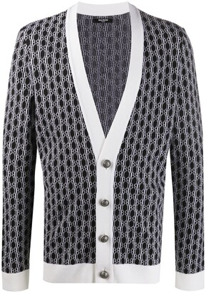 Balmain Monogram knitted cardigan