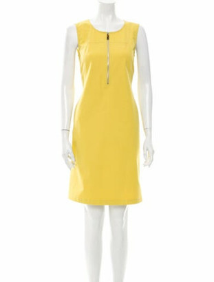 Lafayette 148 Scoop Neck Knee-Length Dress w/ Tags Yellow