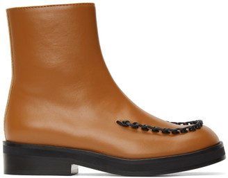 J.W.Anderson Brown Stitch Ankle Boots