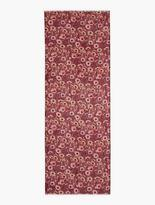 Talbots Fringed Delicate Flowers Scarf
