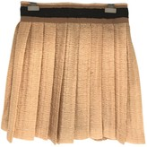 Miu Miu Beige Silk Skirt for Women