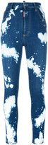 DSQUARED2 Glamhead bleached splatter jeans - women - Cotton/Polyester/Spandex/Elastane - 40