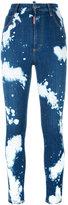 DSQUARED2 Glamhead bleached splatter jeans - women - Cotton/Polyester/Spandex/Elastane - 42