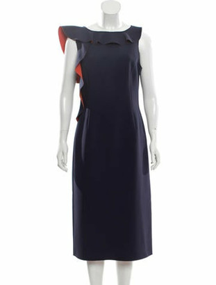 Jason Wu Collection Sleeveless Midi Dress w/ Tags Blue