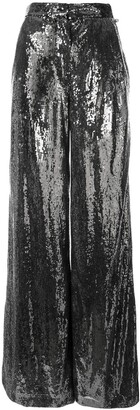 Ingie Paris Sequin Wide Leg Trousers