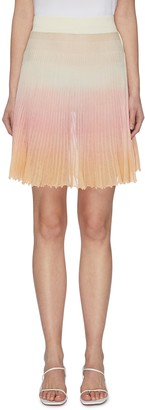 Jacquemus Gradient flared pleated knit skirt