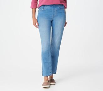 Denim & Co. Pull-On Slim Ankle Jeans
