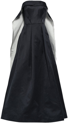 Zac Posen Flared Cape-effect Duchesse-satin Gown