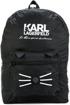 Karl Lagerfeld Choupette whiskers backpack - kids - Polyester - One Size