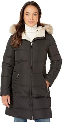 Lauren Ralph Lauren Petite Heavy Down Berber Puffer Coat (Black) Women's Clothing