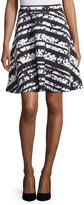 Joan Vass Printed A-Line Skirt, Shadow Floral