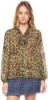 Juicy Couture Outlet - REGENT LEOPARD BLOUSE