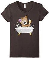 Women's Teddy Bear Bathing T-Shirt Large