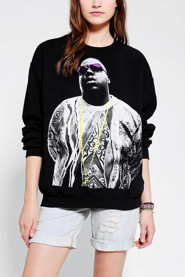 Urban Outfitters Biggie Portrait Pullover Sweatshirt