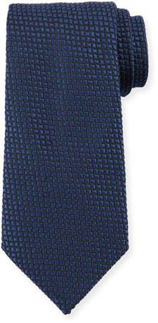 Giorgio Armani Square Silk Tie, Night Blue