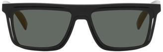 Yohji Yamamoto Black Flat Top Sunglasses