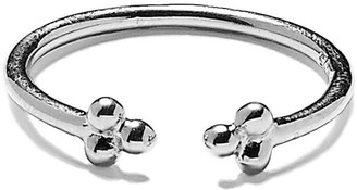 Agnes de Verneuil Open Ring With Three Pearls - Silver