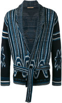 Nuur shawl neck patterned cardigan - men - Cotton - 48