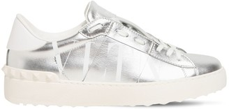 Valentino 20mm Open Vltn Metallic Leather Sneakers