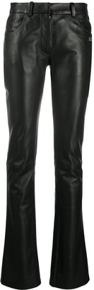 Off-White Flared Leather Trousers