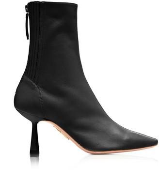 Aquazzura Curzon Leather Ankle Boots