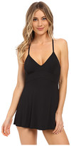 Vince Camuto Fit and Flare Swimdress w/ Adjustable Straps and Removable Cups