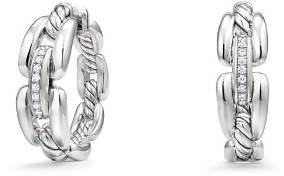 David Yurman Wellesley Hoop Earrings with Diamonds