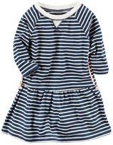 Carter's Girls 4-6x Long Sleeve Striped Knit Dress