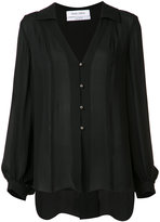 Prabal Gurung open collar blouse - women - Silk - 0