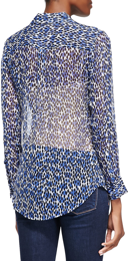 Equipment Slim Signature Lavish Leopard-Print Shirt