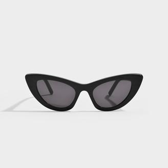Saint Laurent Sl 213 Sunglasses In Black Zebra Acetate And Black
