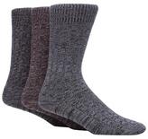 Mantaray Pack Of Three Assorted Ribbed Twist Socks