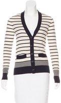 Tory Burch Wool Striped Cardigan