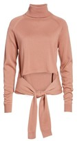 KENDALL + KYLIE Women's Tie Front Turtleneck Sweater
