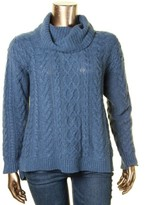 Lauren Ralph Lauren Womens Cable Knit Long Sleeves Turtleneck Sweater
