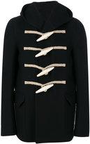 Rick Owens hooded toggle coat - men - Cotton/Polyamide/Cupro/Buffalo Bone - 50