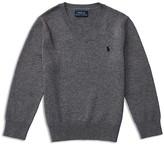 Ralph Lauren Boys' Cotton Elbow Patch Sweater - Sizes 2-7