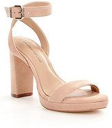 Antonio Melani Sarita Suede Ankle Strap Block Heel Platform Sandals