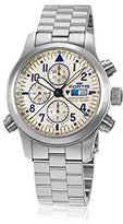 Fortis Men's 702.20.92 M F-43 Flieger Chronograph Alarm Analog Display Automatic Self Wind Silver Watch